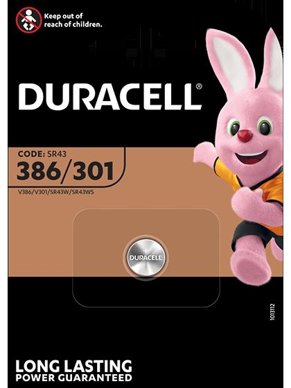 Батерия за часовник 386 - SR43SW - Duracell D386