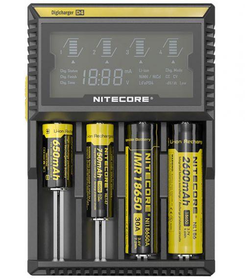 Универсално зарядно за IMR Li-Ion - Ni-Cd - Ni-Mh - LiFePO4 - Nitecore D4EU