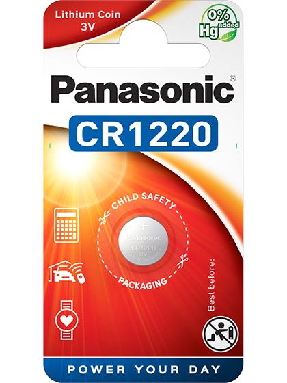 Литиева батерия CR1220 Panasonic CR1220 - 3V