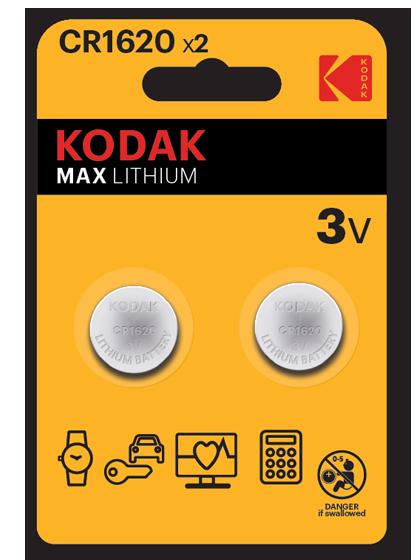 Литиеви батерии CR1620 Kodak KCR1620 - 3V