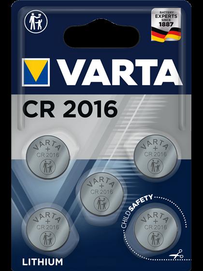 Литиеви батерии CR2016 Varta CR2016 - 3V - 5 броя