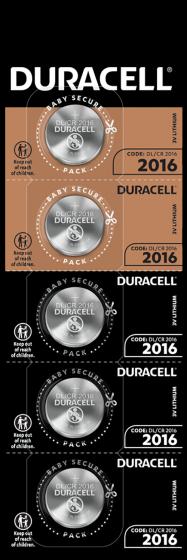 Литиеви батерии CR2016 3V Duracell DL2016
