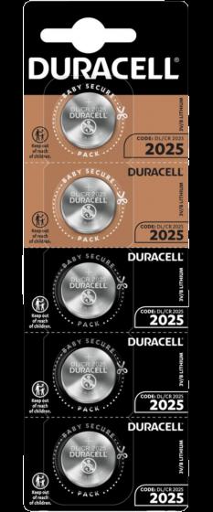 Литиеви батерии DL2025 Duracell CR2025 - 3V - 5 батерии