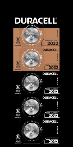 Литиеви батерии CR2032 Duracell DL2032 - 3V HSDC