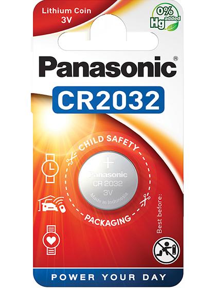 Литиева батерия CR2032 Panasonic CR2032 - 3V