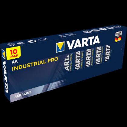 Алкални батерии AA Industrial Pro - Varta AA - 10 броя