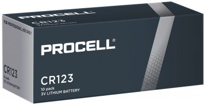 10 батерии CR123 Duracell Procell DL123 - 3V