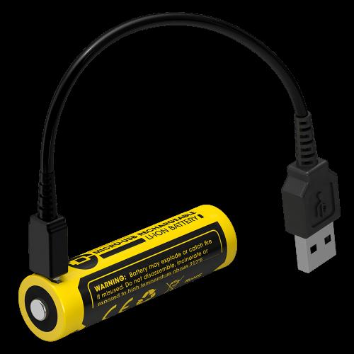 Литиево-йонна батерия AA 14500 Nitecore AA - 750 mAh 3.7V + USB