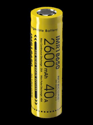 Батерия IMR18650 Nitecore 18650 - 2600 mAh 40A