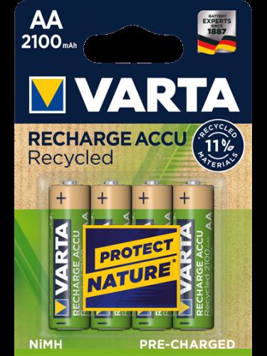 Акумулаторни батерии АА Varta Recycled AA  2100 mAh