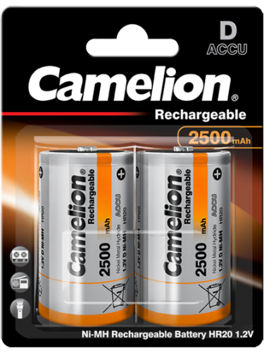 Акумулаторни батерии D Camelion Rechargeable D - 2500 mAh