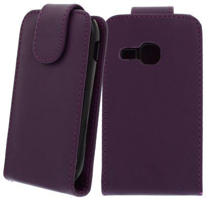 FLIP калъф за Samsung Galaxy Mini 2 GT-S6500 Purple (Nr 33)