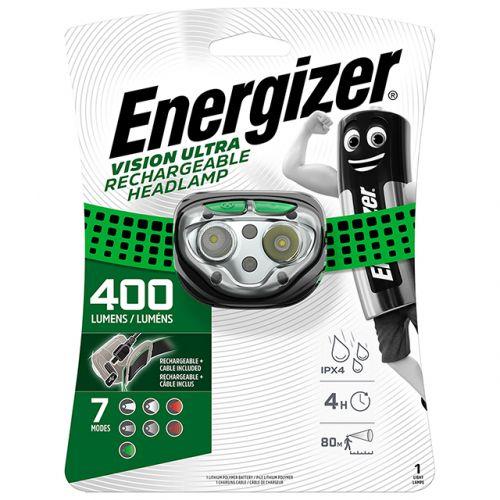 Акумулаторен фенер за глава Vision Ultra HD 400 Лумена