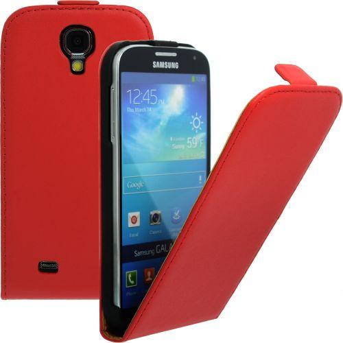 FLIP калъф за Samsung Galaxy S4 i9500 Естествена кожа Red