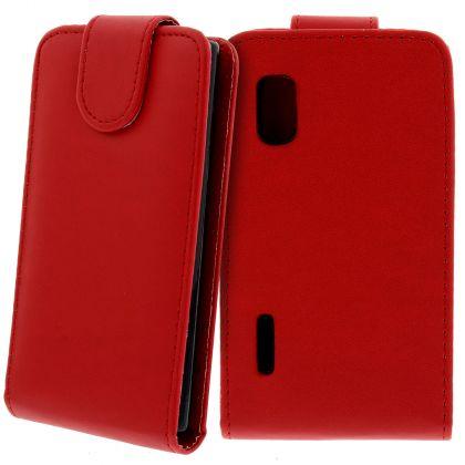 FLIP калъф за LG E610 Optimus L5 Red (Nr 7)