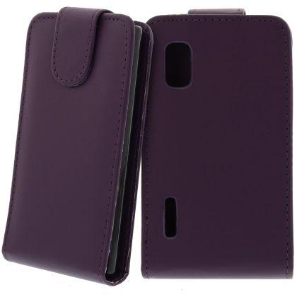 FLIP калъф за LG E610 Optimus L5 Purple (Nr 33)