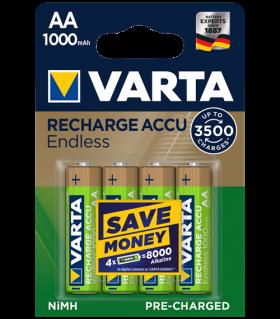 Акумулаторни батерии АА Varta Endless AA - 1000 mAh - 4 броя