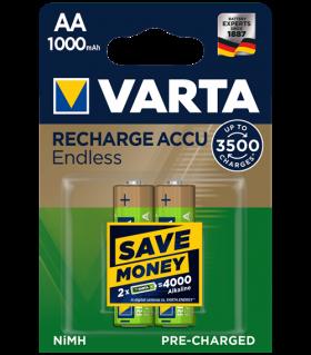 Акумулаторни батерии АА Varta Endless AA - 1000 mAh