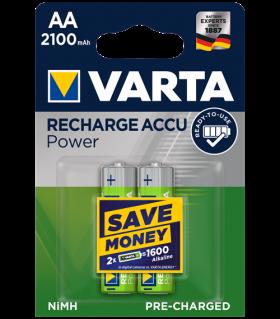 Акумулаторни батерии Varta Ready2Use AA 2100mAh BL2