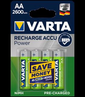 Акумулаторни батерии Varta Ready2Use AA 2600mAh BL4