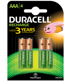 Акумулаторни батерии AAA Duracell Stay Charged AAA - 750 mAh - BL4