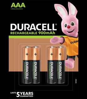 Акумулаторни батерии AAA Duracell Stay Charged AAA - 900 mAh