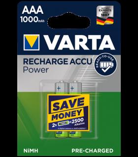 Акумулаторни батерии ААA Varta Ready2Use AAA - 1000 mAh