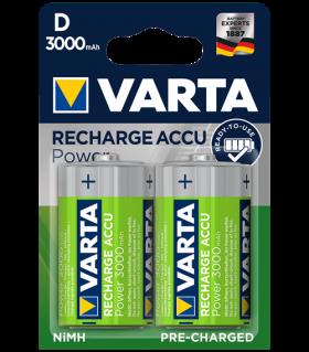 Акумулаторни батерии Varta Ready2Use D 3000mAh 2бр.