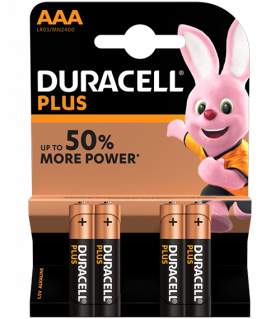 Алкални батерии ААА Duracell Plus Power AAA MN2400