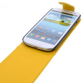 FLIP калъф за Samsung Galaxy S3 i9300 Yellow (Nr 9)