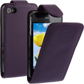 FLIP калъф за iPhone 4 4S Purple (Nr 33)
