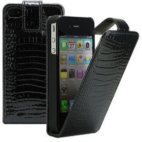 Калъф за телефон iPhone 4 / 4S croco black