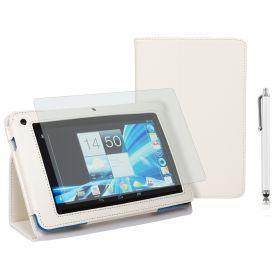 "Kожен кейс за таблет  Acer B1-710/A71 7"" Stylus White+SP+Pen"