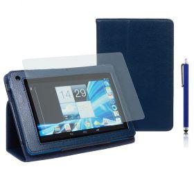 """Kожен кейс за таблет  Acer B1-710/A71 7"""" Stylus Blue+SP+Pen"""
