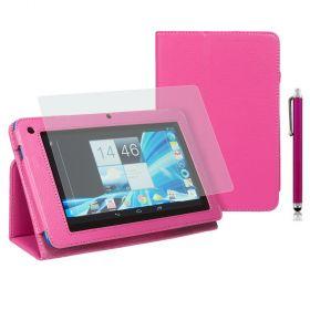 "Kожен кейс за таблет Acer B1-710/A71 7"" Stylus - Pink"