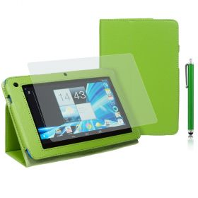 "PU-Leath. Case for Acer B1-710/A71 7"" Stylus Green+SP+Pen"