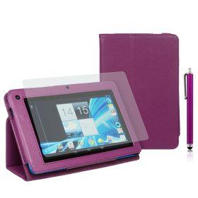 """PU-Lea.Stand Case f.Acer B1-710/A71 7"""" Stylus Purple+SP+Pen"""