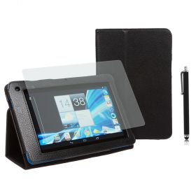 "PU-Lea.Stand Case for Acer B1-710/A71 7"" Stylus Black+SP+Pen"