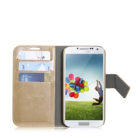 Blumax PU Wallet Booksytle Case Sam.Gal.S4/i9500 Rice colour