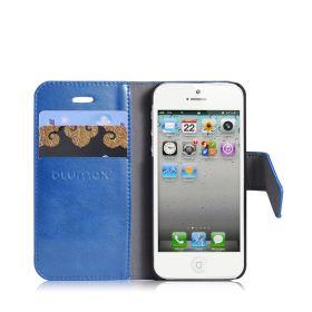 Калъф за  iPhone 5 - Bookstyle тип - портфейл - син