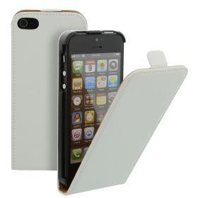 Калъф за телефон iPhone 5 Genuine Leather White