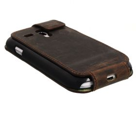 BlumaxStand Flip Leath.-Case Coff.Antique G6 Sam.Gal.S3mini