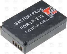 Батерия за фотоапарат Canon LP-E12, 600 mAh