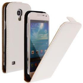 FLIP калъф за Samsung Galaxy S4 mini Естествена кожа White