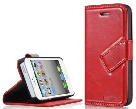 Blumax PU Wallet Bookstyle Case iPhone 5 Red
