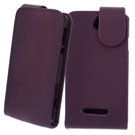 FLIP ????? ?? Sony Xperia E Purple (Nr 33)