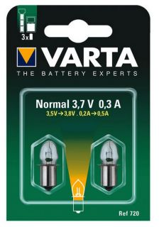 Рез. крушка Varta V720 Argon 3,7 Volt BL2