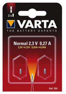 Рез. крушка Varta V704 Argon 2,3 Volt BL2