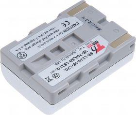 Батерия за видеокамера Samsung SB-L110, SB-L70, SB-70A, SB-LS110, Сребриста, 1500 mAh