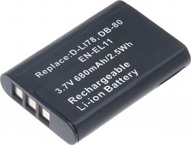Батерия за фотоапарат Nikon EN-EL11, D-Li78, DB-80, 570 mAh
